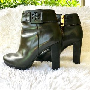 Tory Burch Black Leather Booties 6